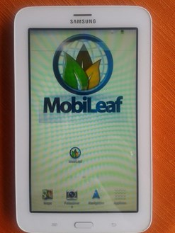 MobiLaf tablet opening screen